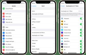 Desativando as atualizações em segundo plano no iPhone