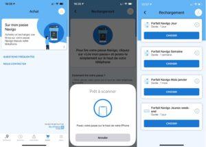 Recarregando cartão de transporte público de Paris via NFC no iPhone