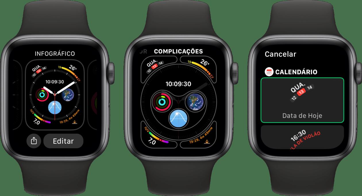 Editando complicações no Apple Watch