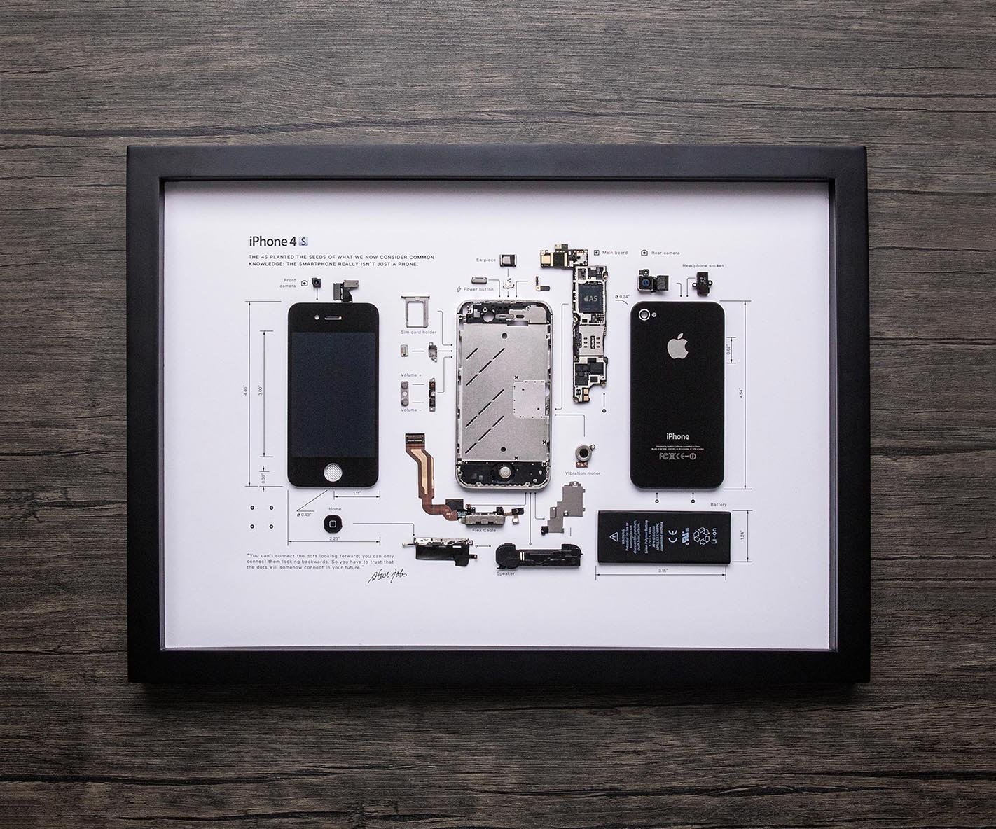 iPhone 4s emoldurado pelo estúdio Grid