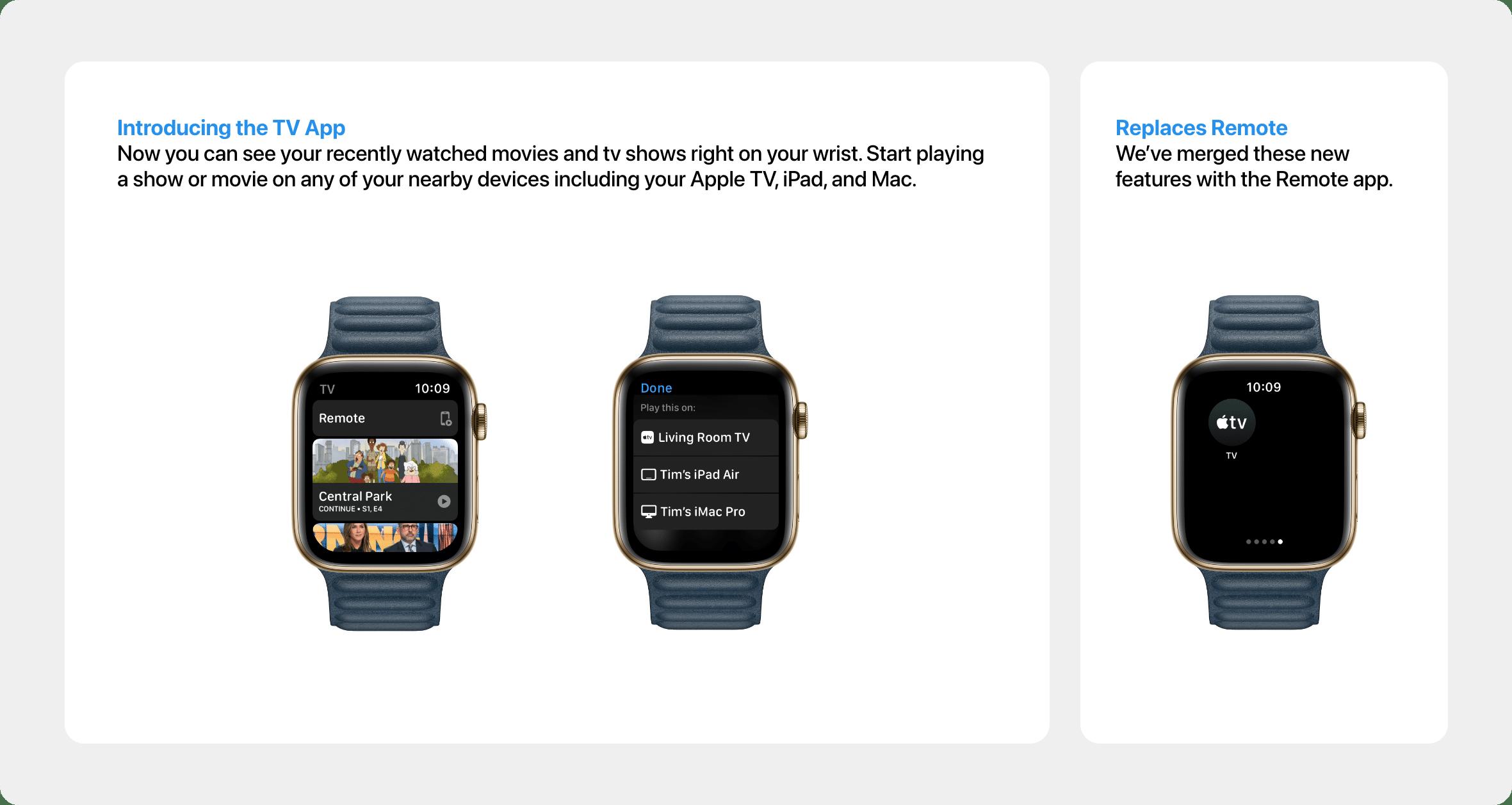 Conceito: app Remote no watchOS 8