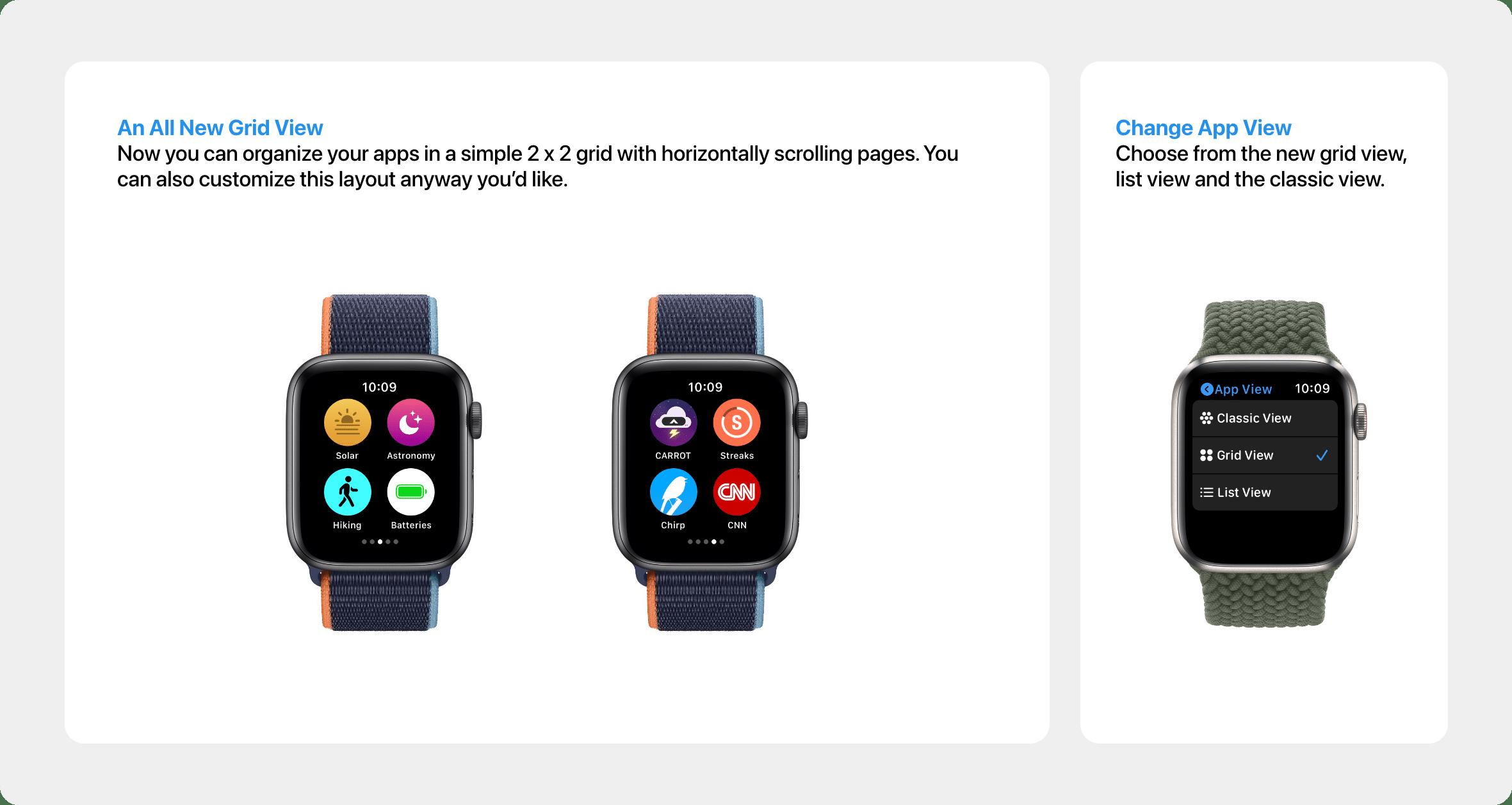 Conceito: visualização de apps no watchOS 8
