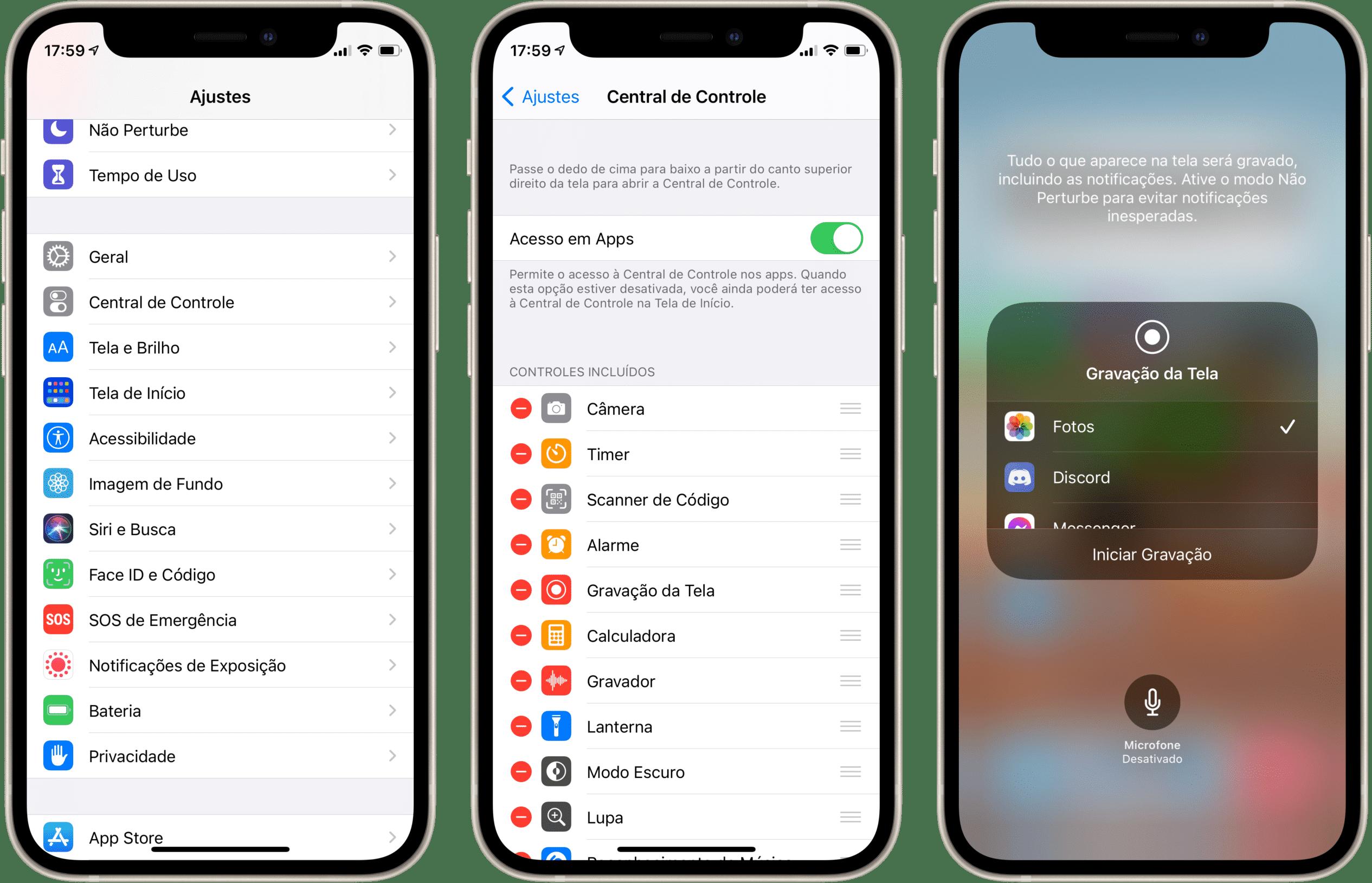 Gravando a tela do iPhone