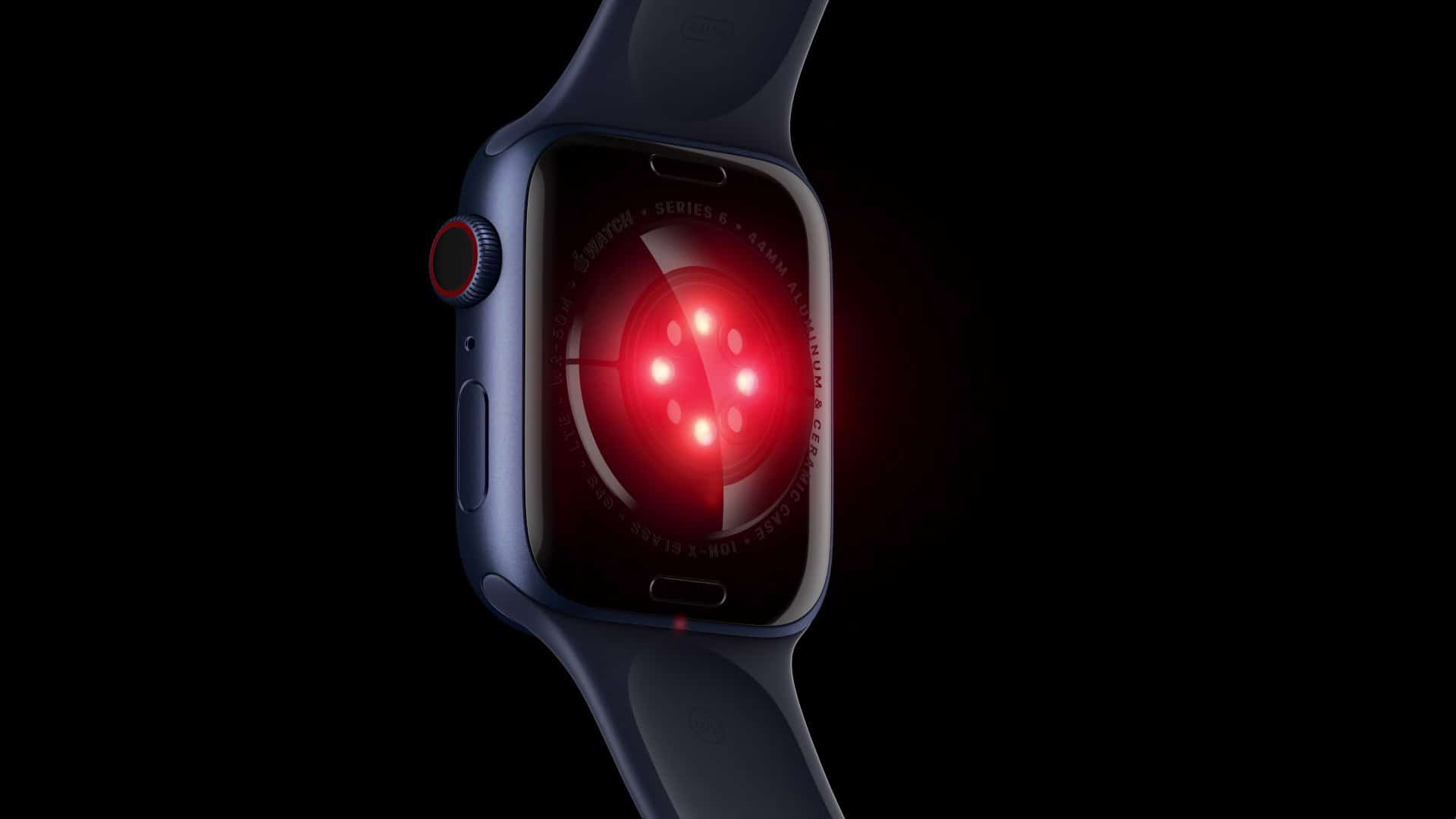Sensor óptico do Apple Watch Series 6