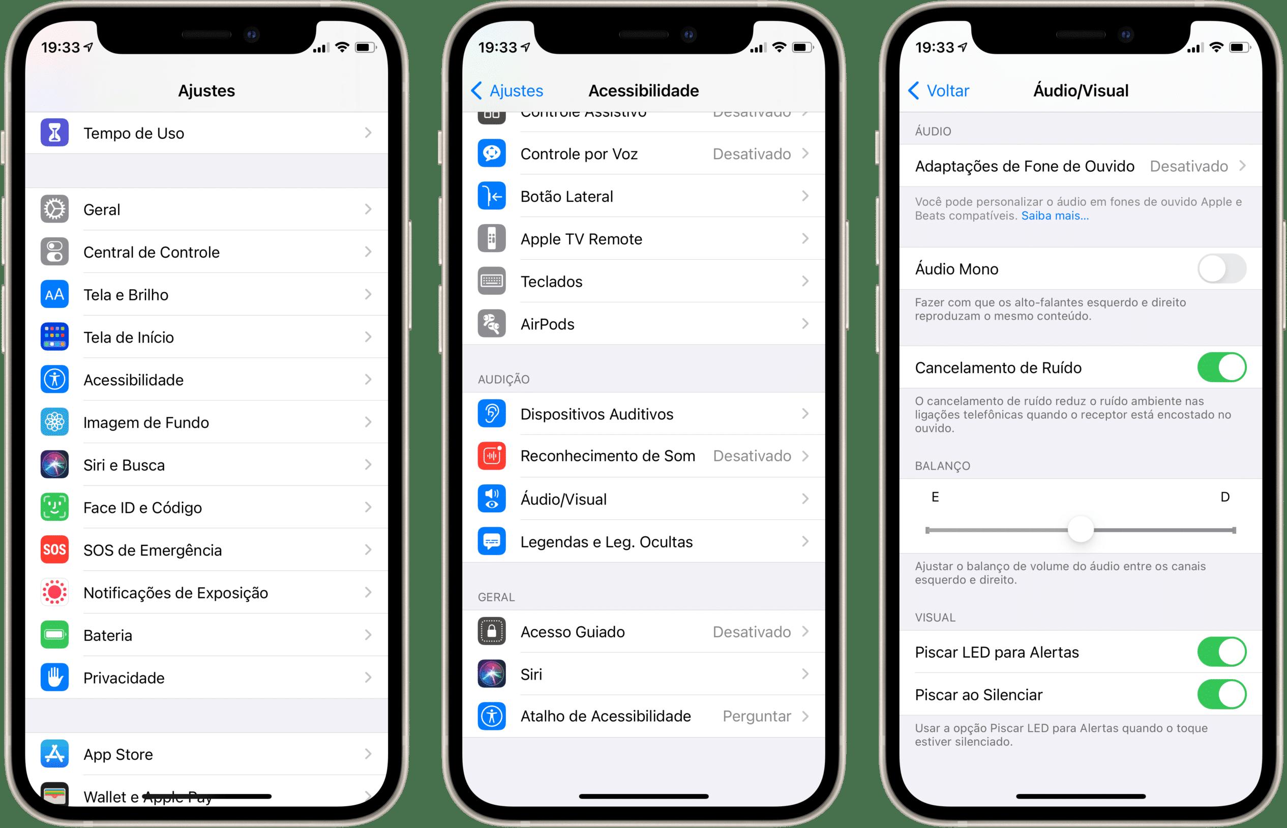 Altera de notificações no flash do iPhone