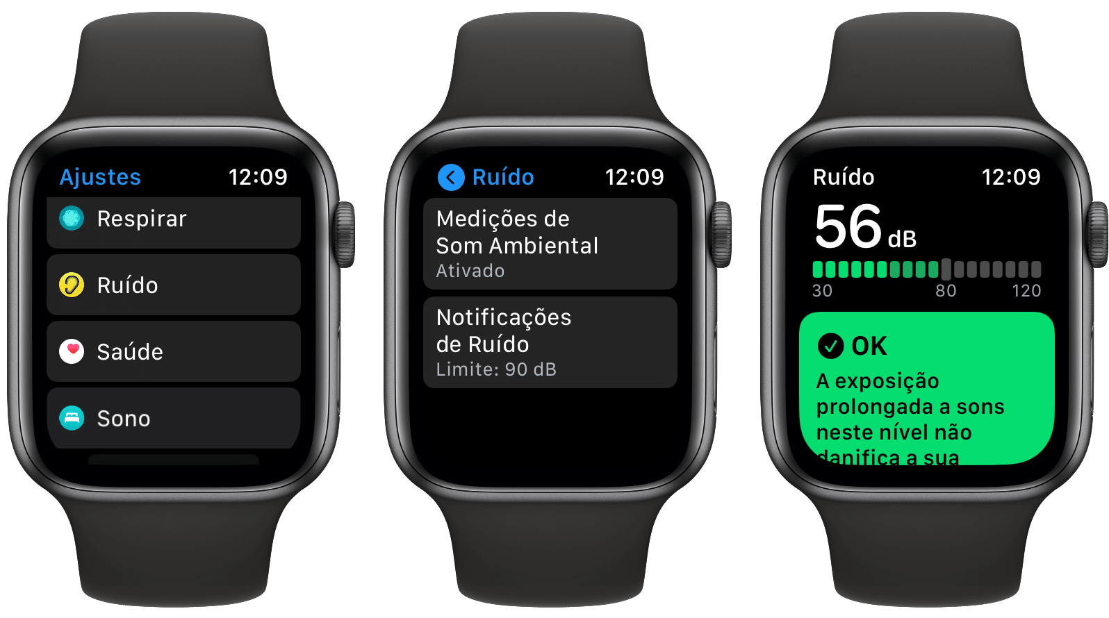 app Ruído no Apple Watch