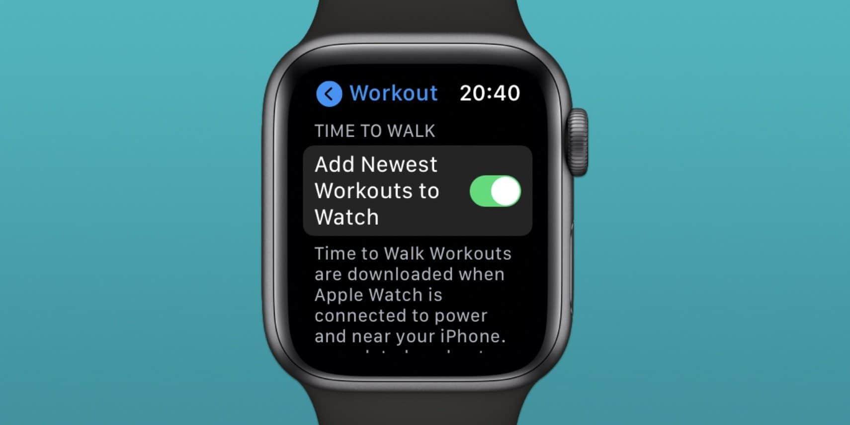 """Possível recurso """"Time to Walk"""" encontrado no Apple Watch"""