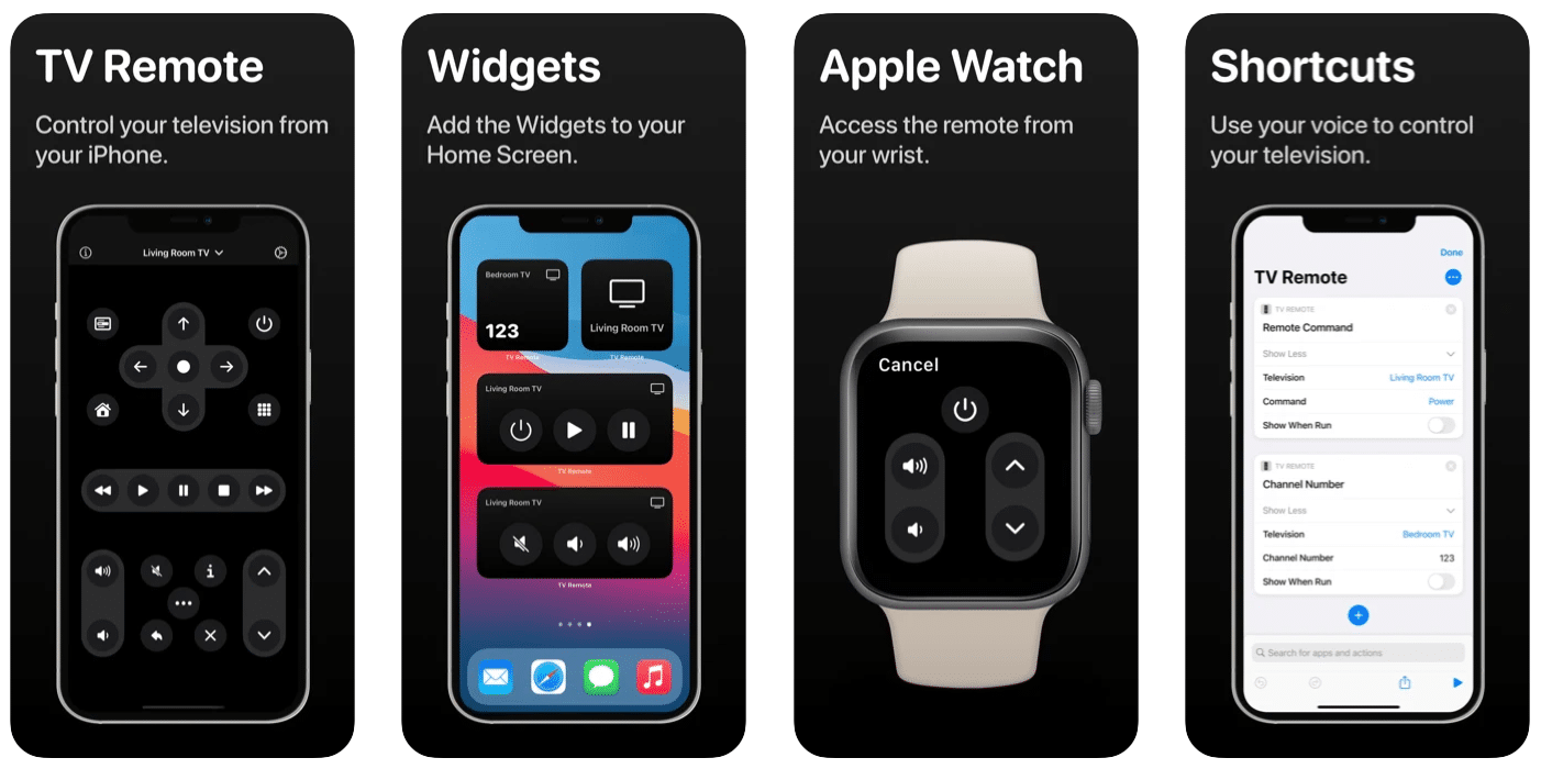 TV Remote, app para iPhone, iPad e Apple Watch