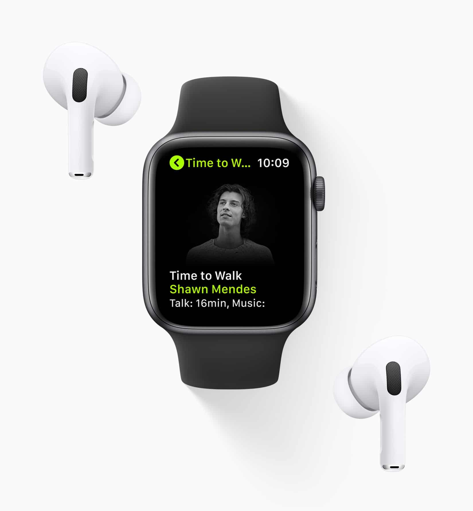 Time to Walk (Hora de Caminhar) do Apple Fitness+ em Apple Watch e AirPods Pro