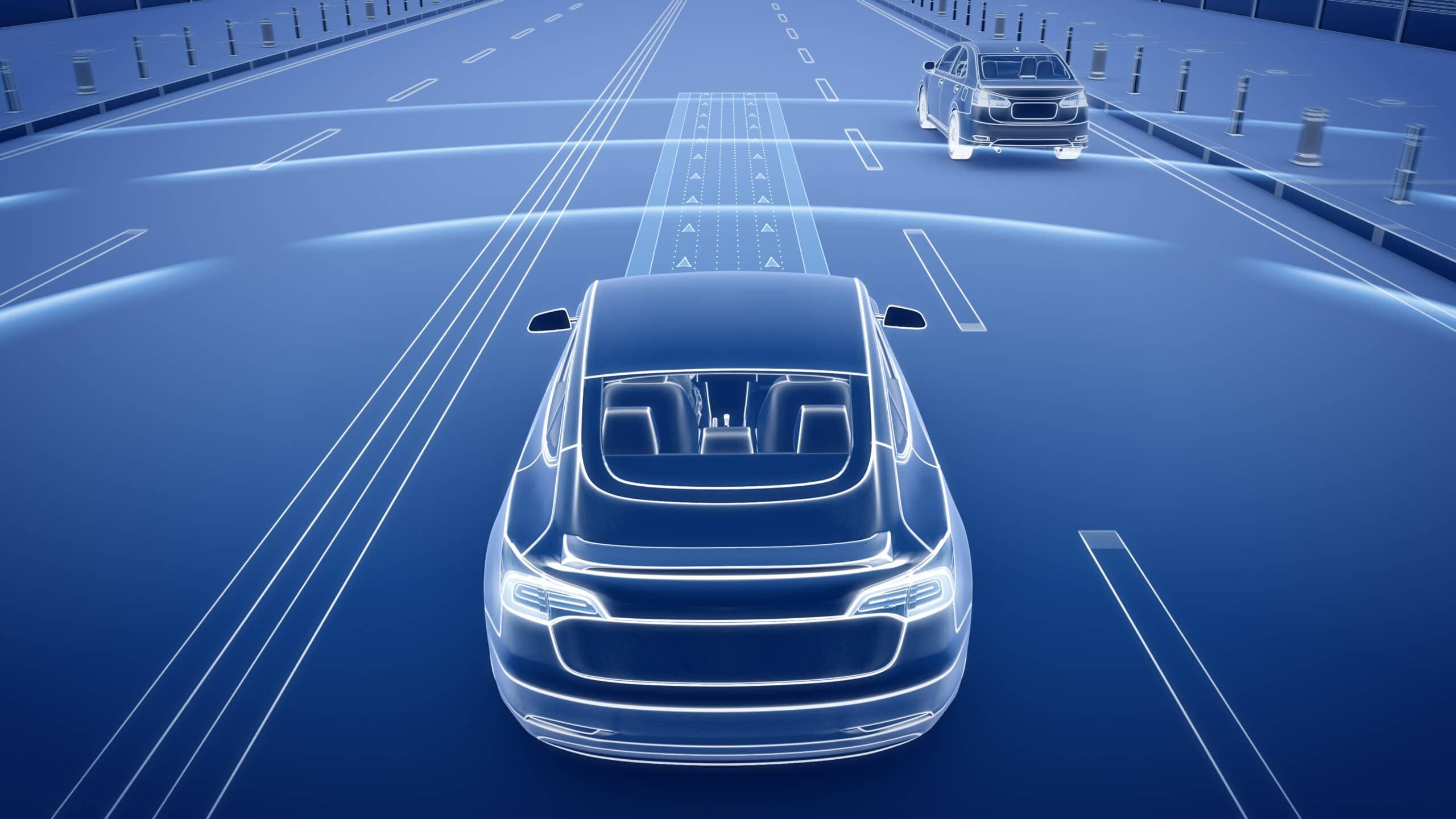 Ilustração de carro elétrico/autônomo