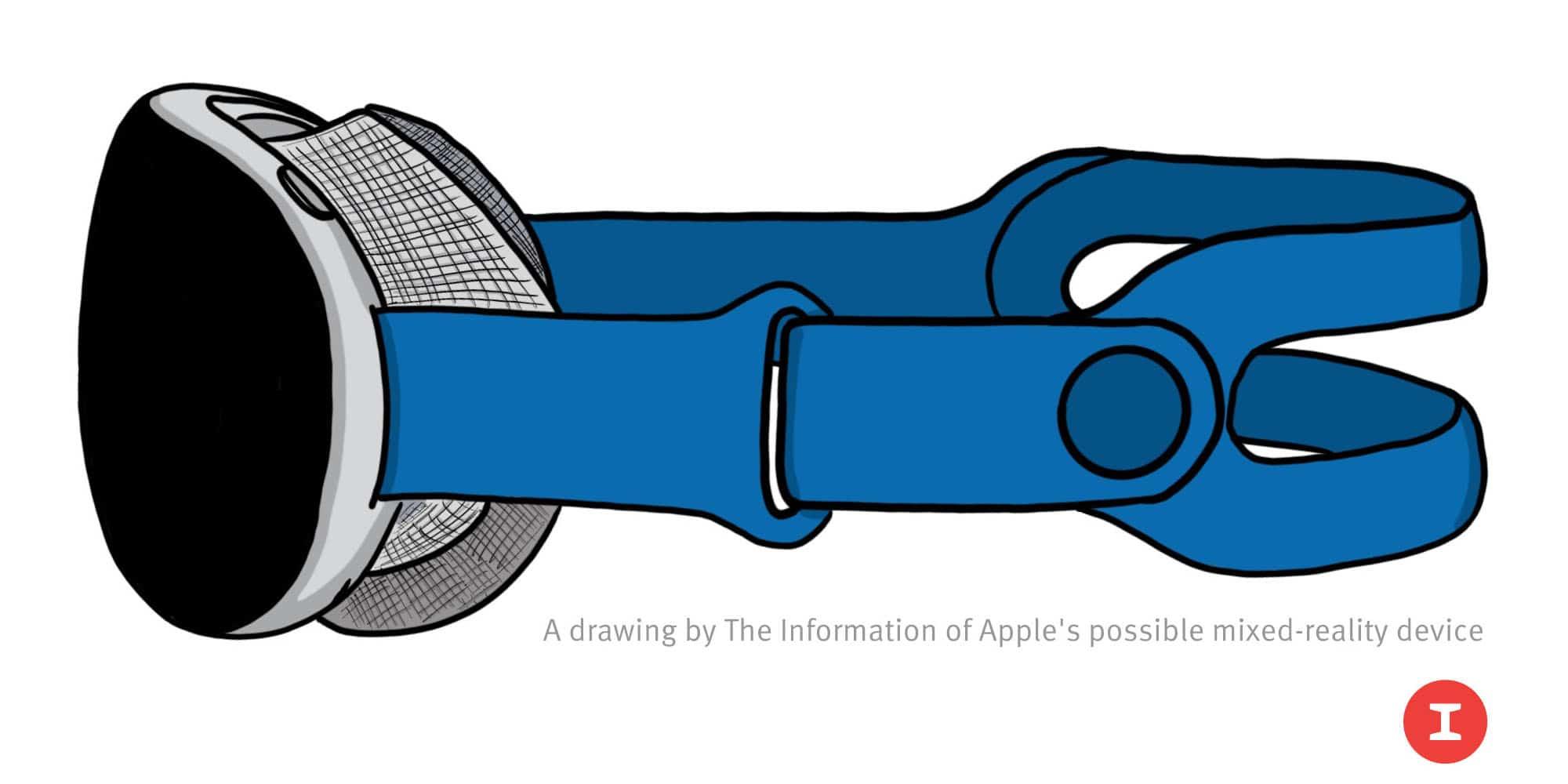 Desenho de headset AR/VR da Apple