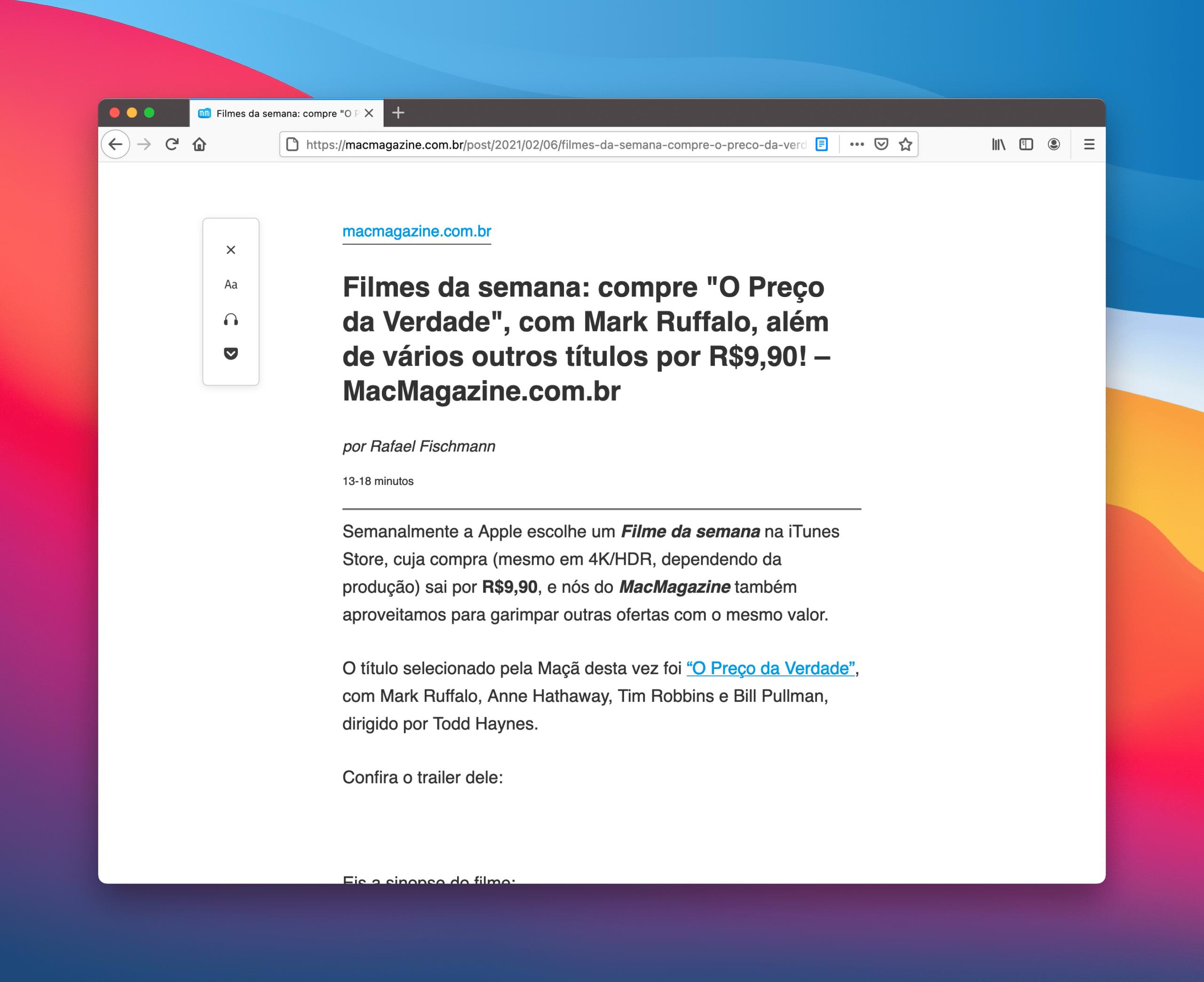 Imprimir sem anúncios no Safari