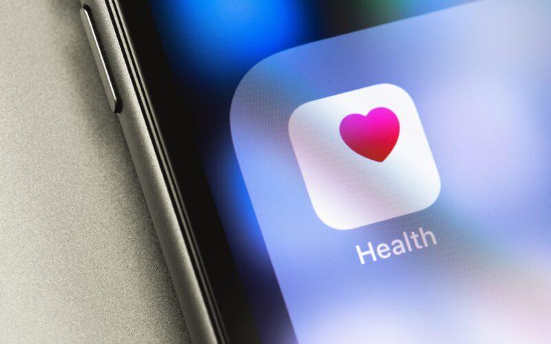 Ícone do aplicativo Saúde (Health) no iPhone