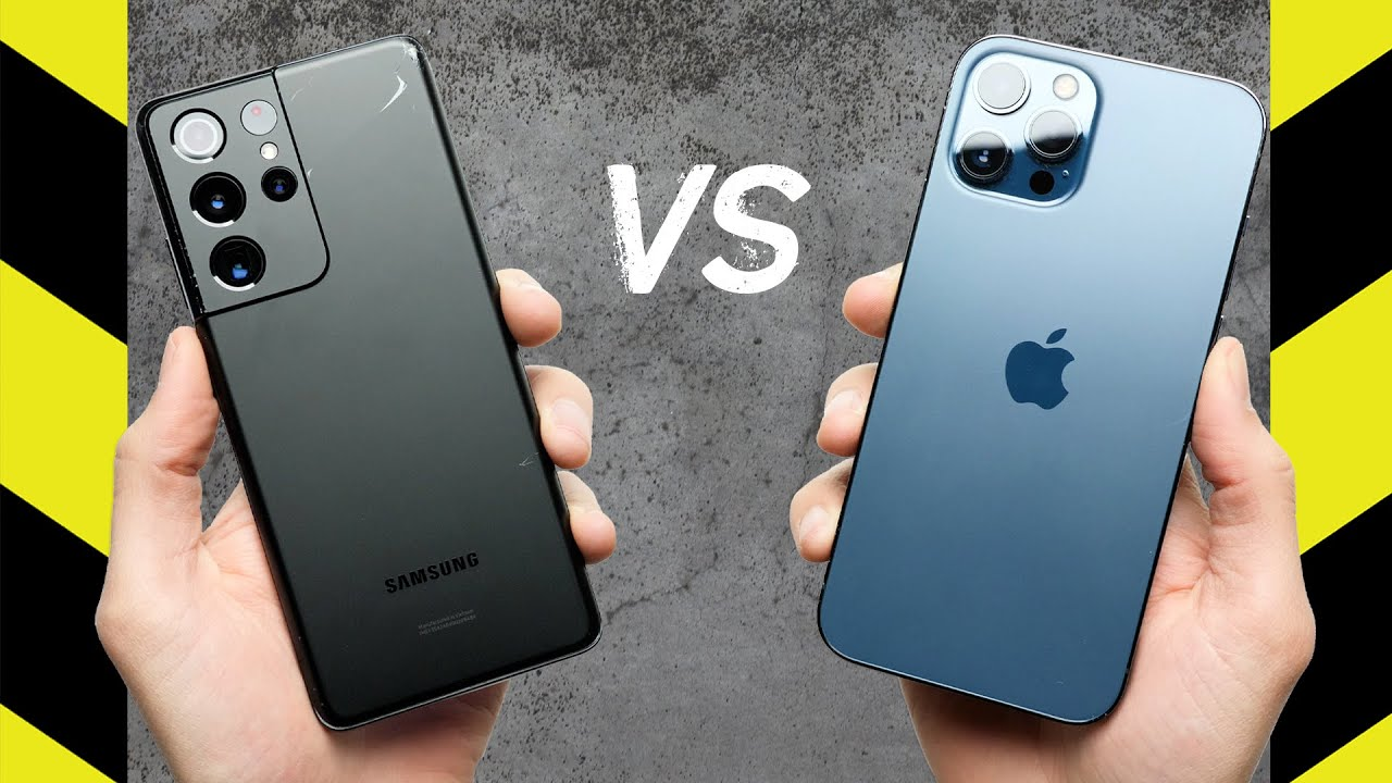 Teste de queda: iPhone 12 Pro Max vs. Samsung Galaxy S21 Ultra