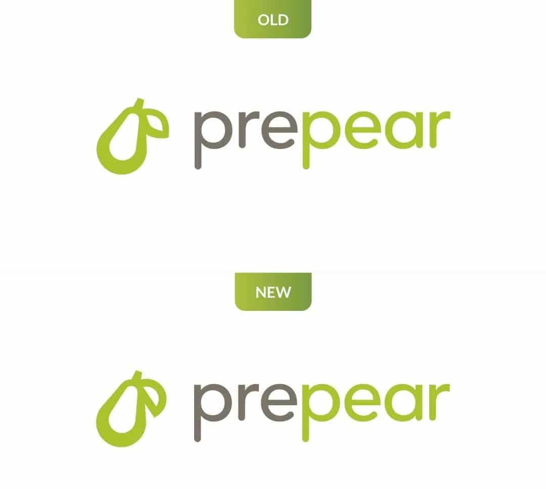 Mudança do logotipo da Prepear