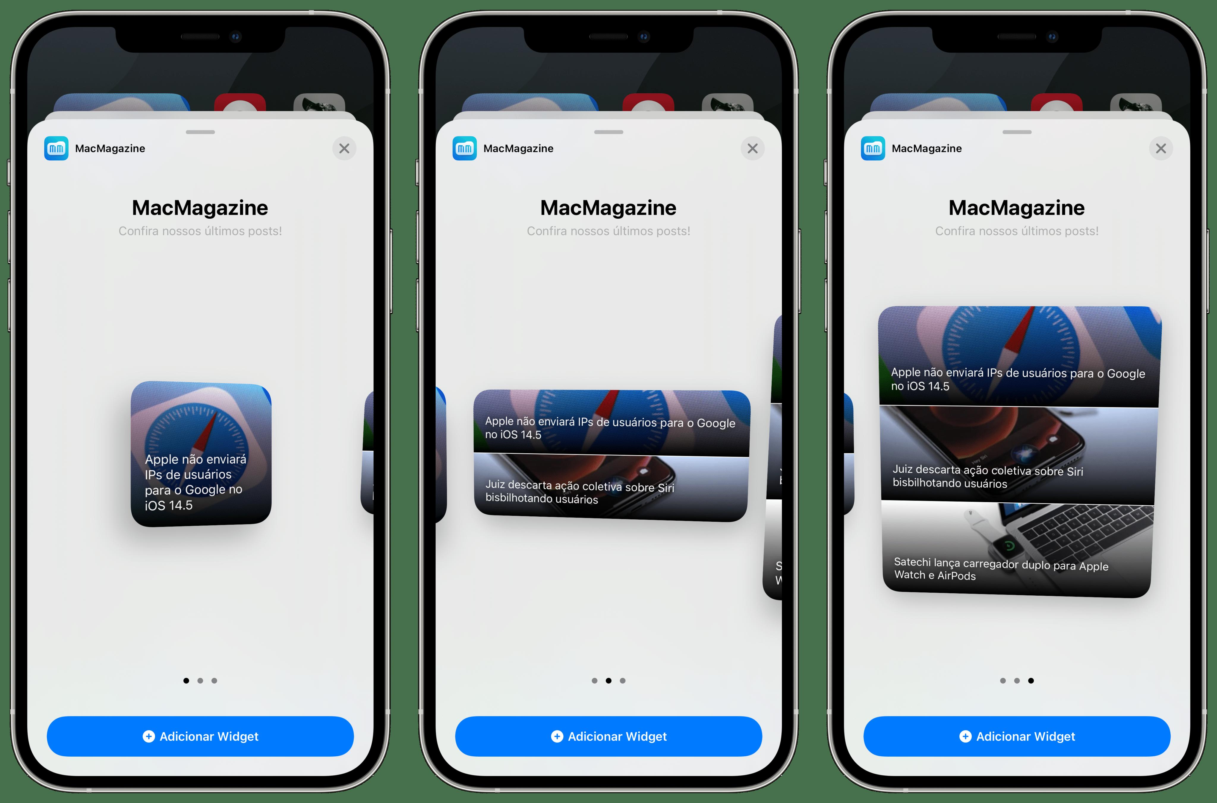 Widgets em nosso app para iPhone