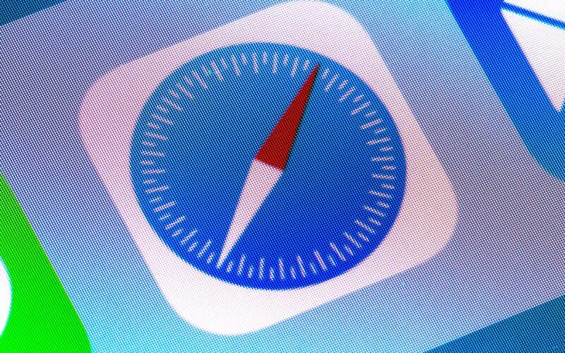 Close-up do ícone do Safari