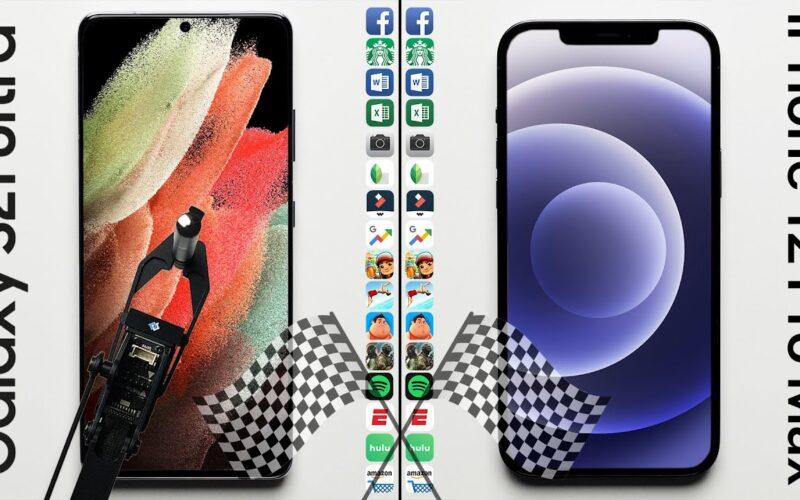 Teste de velocidade: Galaxy S21 Ultra x iPhone 12 Pro