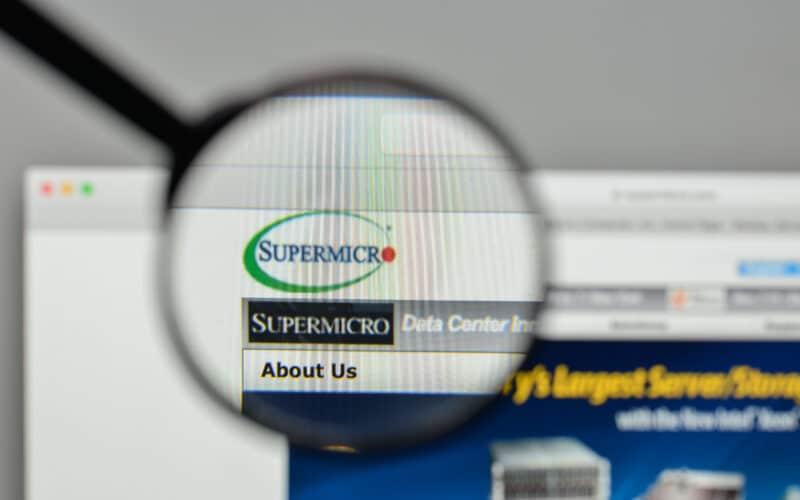 Site com logo da Super Micro