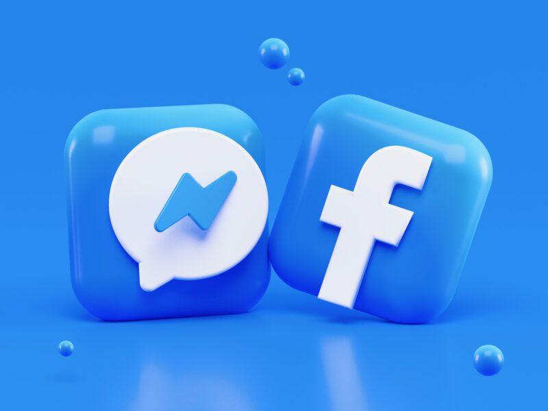 Ícones do Messenger e do Facebook