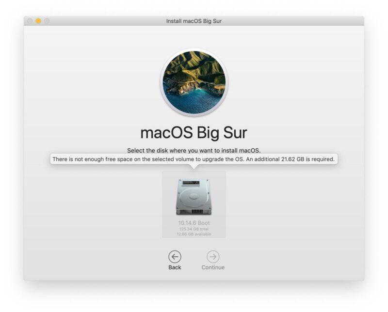 Instalador do macOS Big Sur com problema