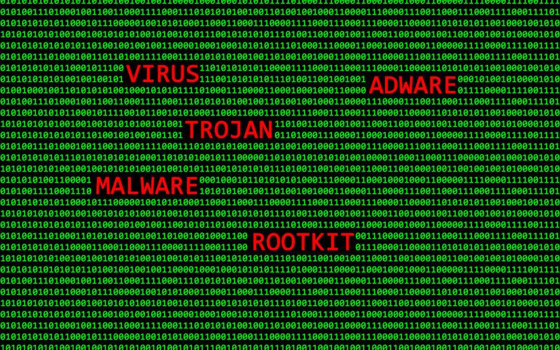 Gráfico de malwares, Trojan, vírus