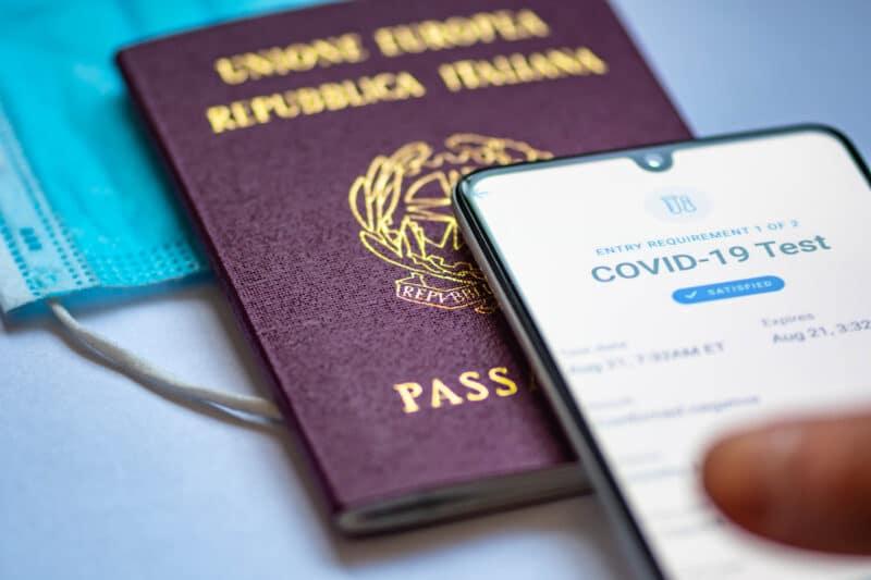 Passaporte de vacinação/saúde