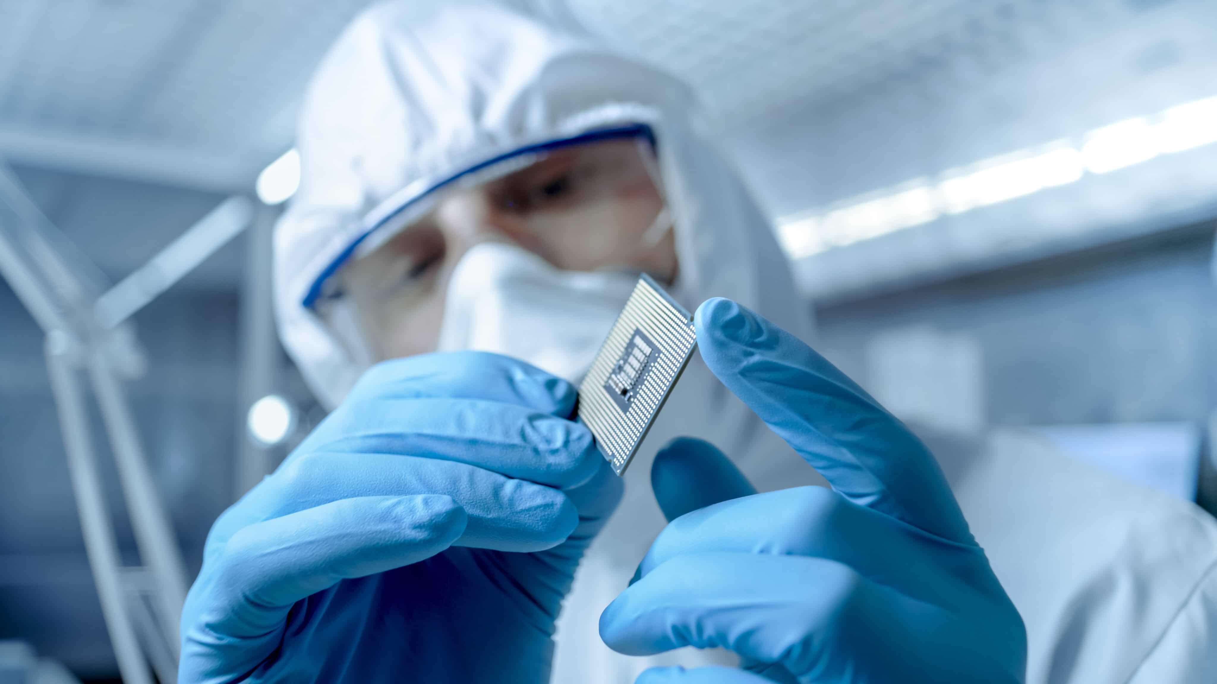 Fábrica de semicondutores e chips