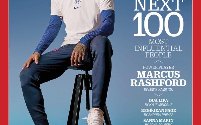 Marcus Rashford na capa da TIME