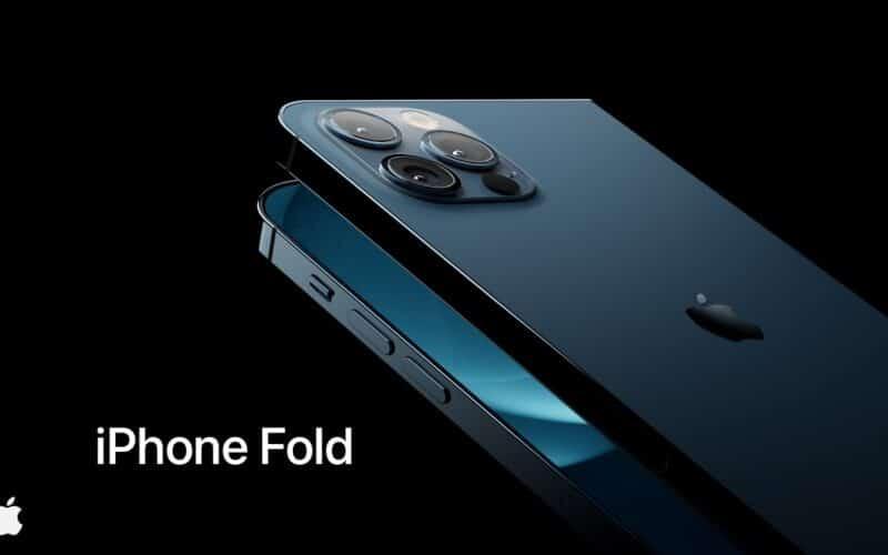 """Conceito de """"iPhone Fold"""" (iPhone Dobrável)"""