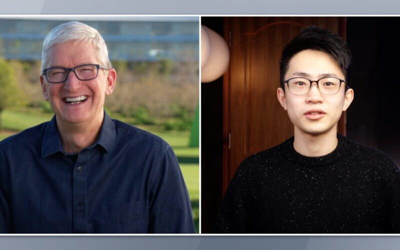 Tim Cook e He Shijie