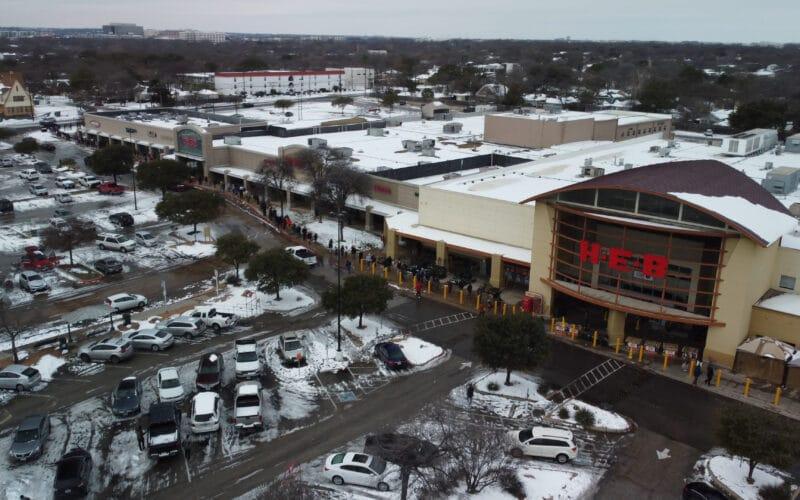 Texas abalado pelas tempestades de neve no inverno
