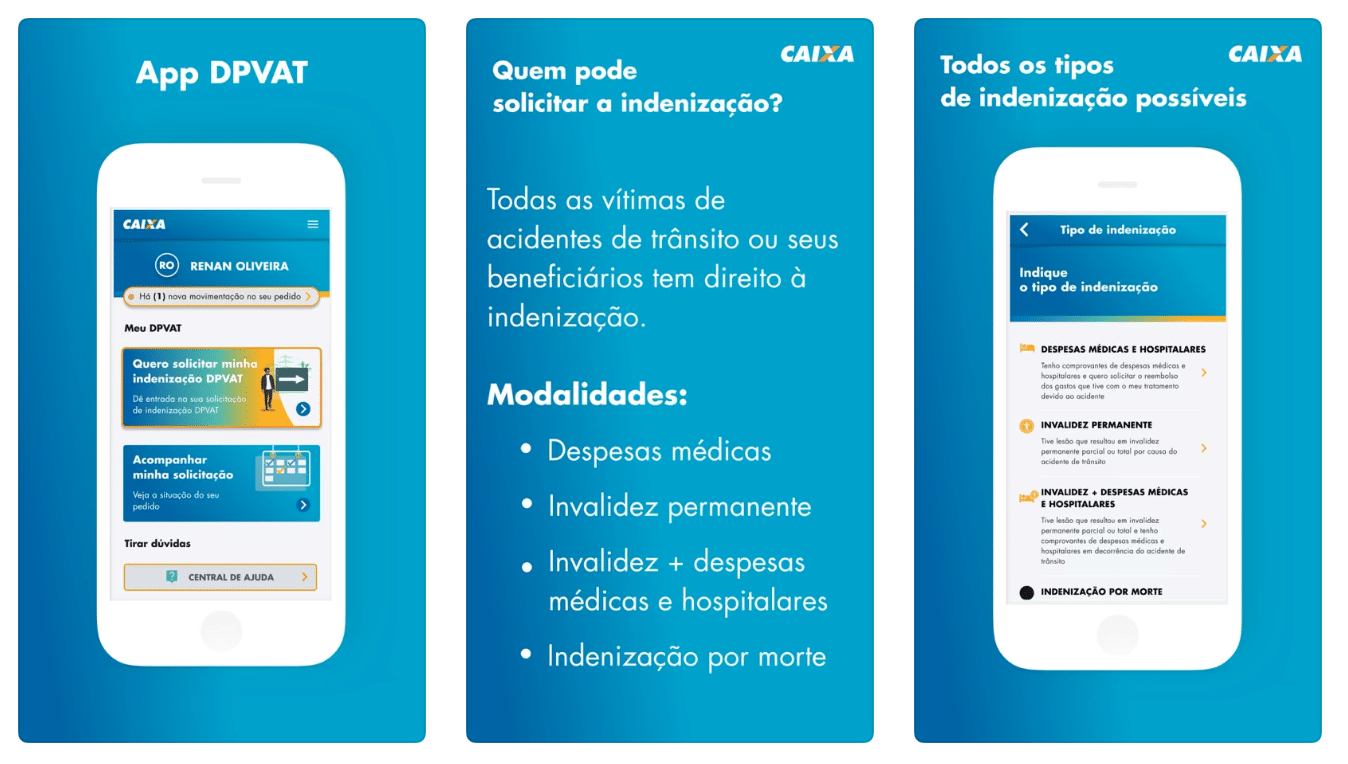App DPVAT, da Caixa