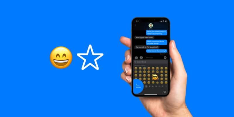 Conceito: teclado de emojis favoritos