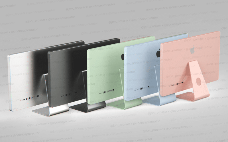 Render cores do iMac (2021)