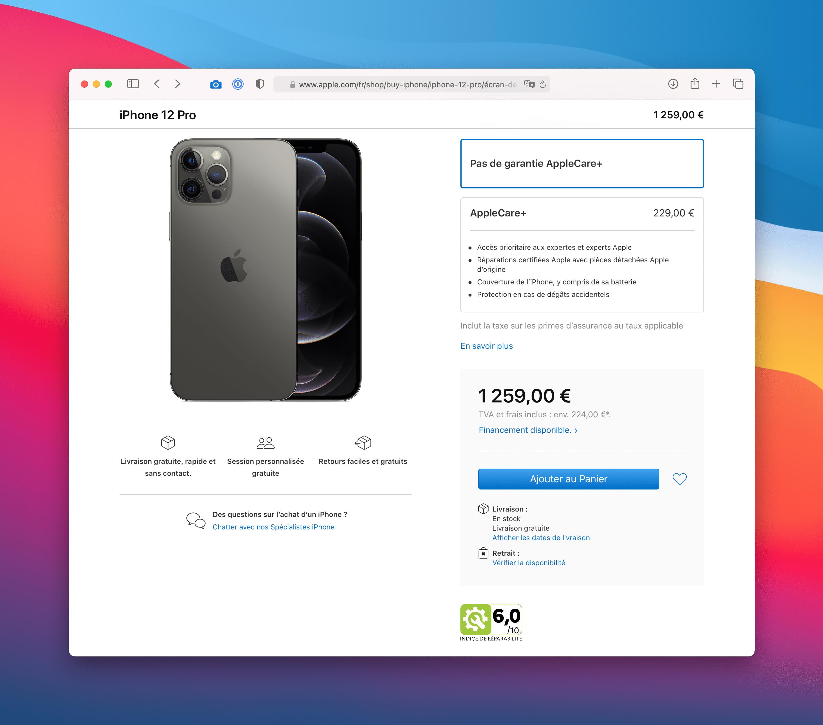 Nota de reparo do iPhone