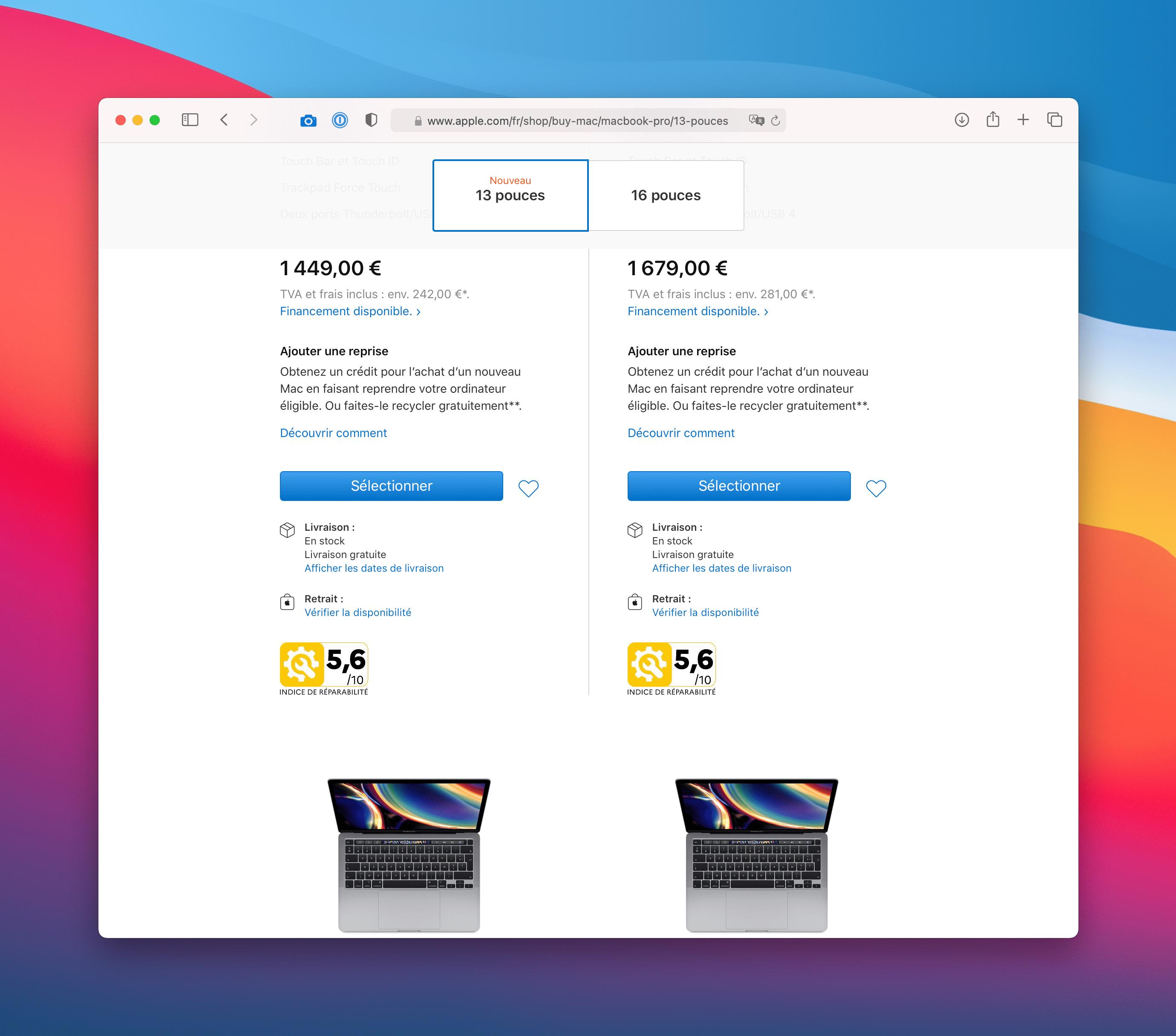 Nota de reparo do Mac