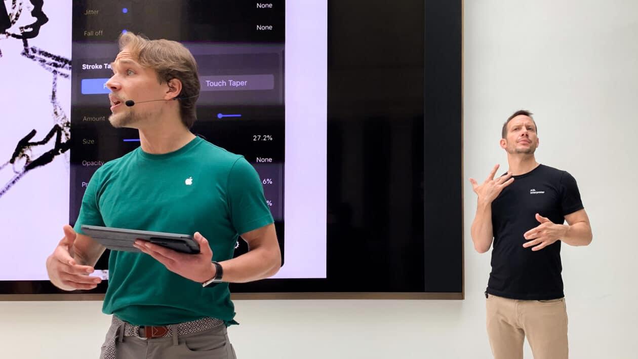 Intérprete em Apple Store