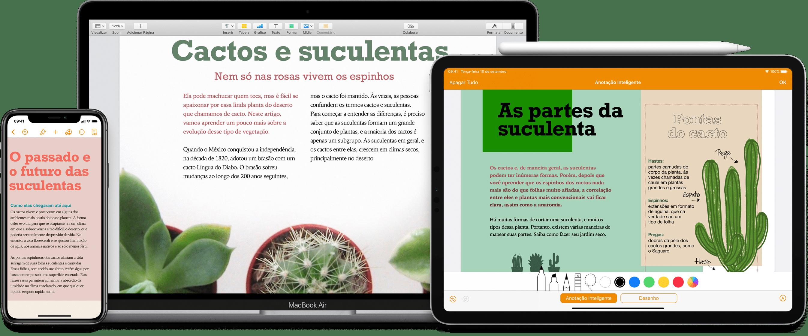 Pages para iOS, iPadOS e macOS