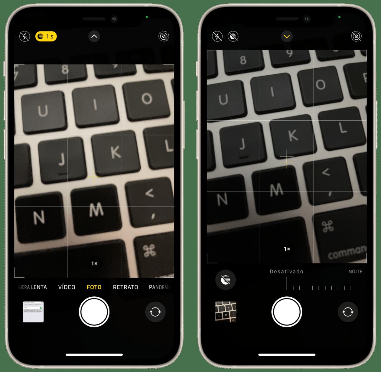 Desativando manualmente o modo Noite no iPhone