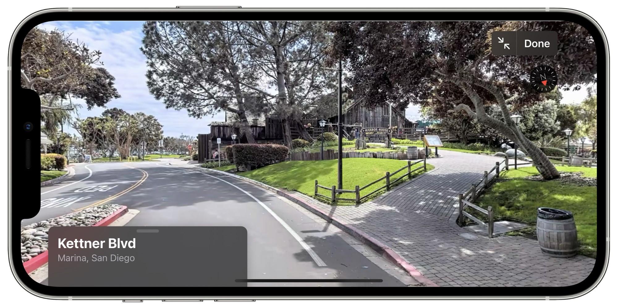 """""""Olhe ao Redor"""" em San Diego nos Mapas da Apple"""