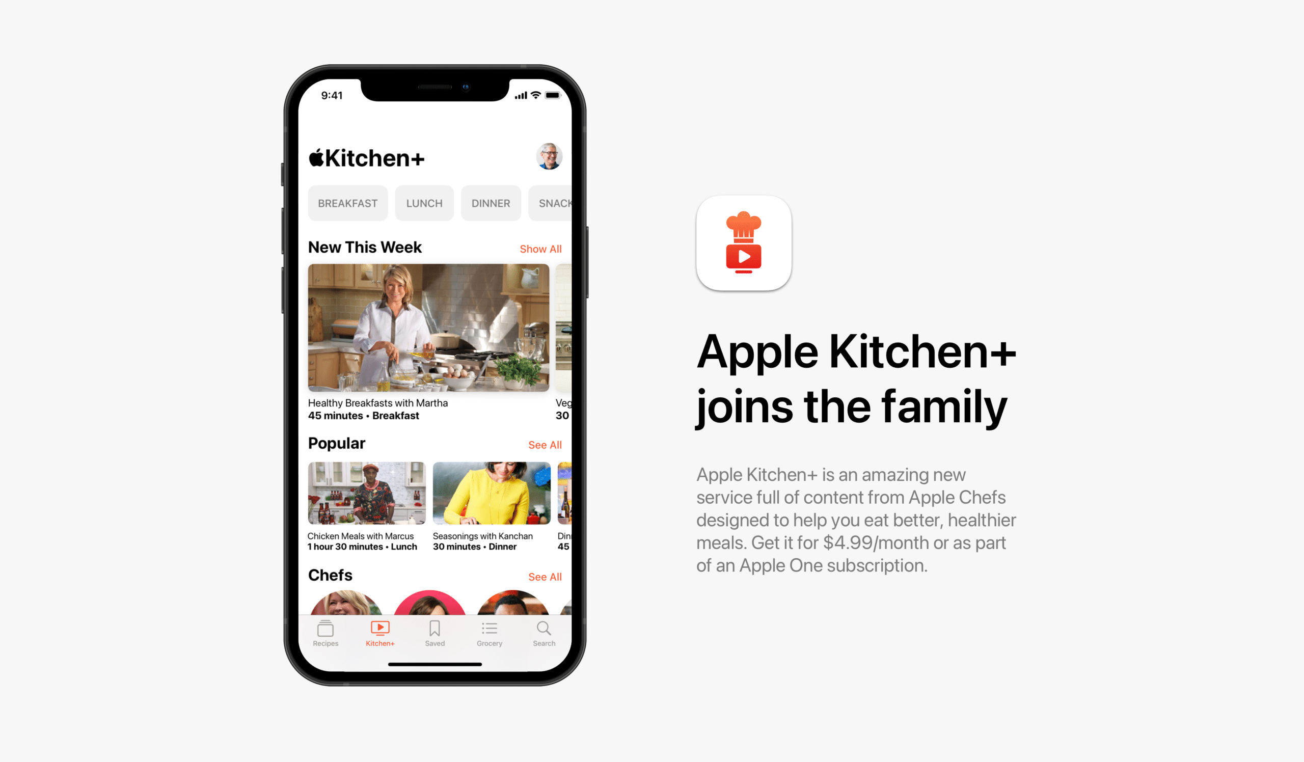"Conceito de ""Apple Kitchen"""