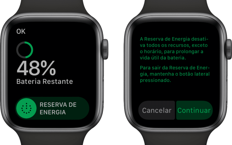 Modo Reserva de Energia do Apple Watch