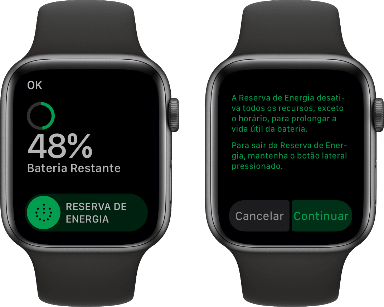 Modo Reserva de Energia do Apple Watch