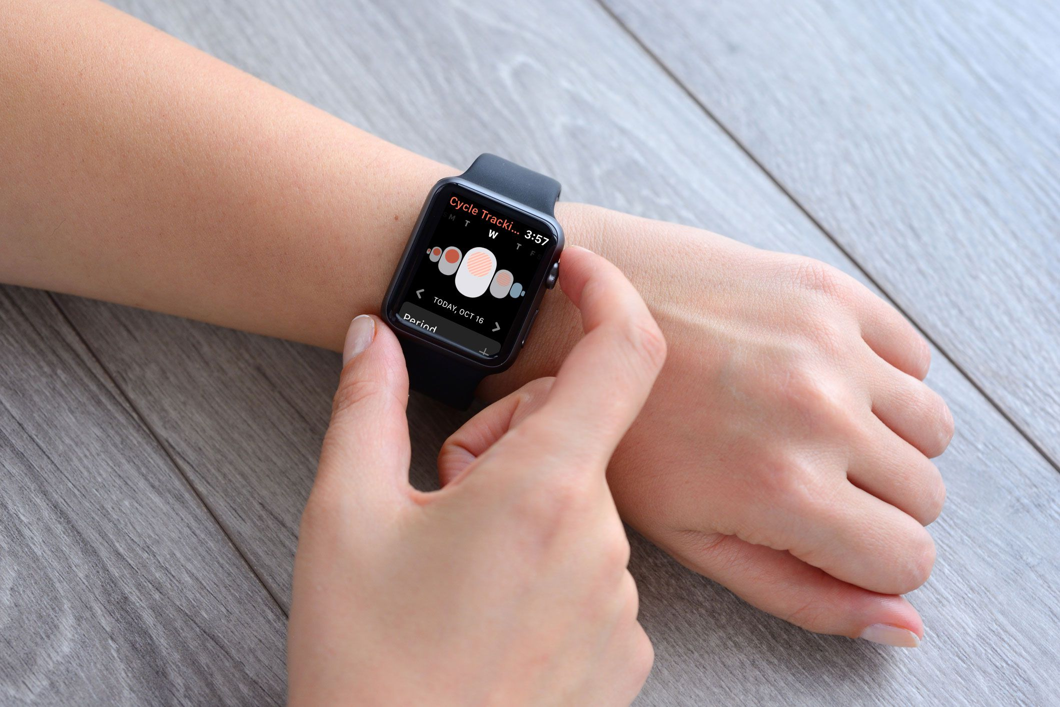 Acompanhamento de Ciclo no Apple Watch