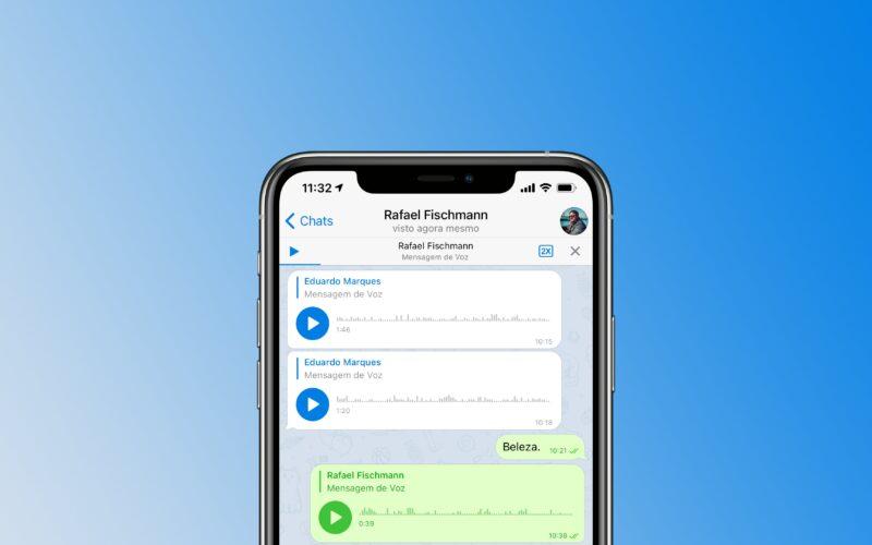 Áudio em 2x no Telegram