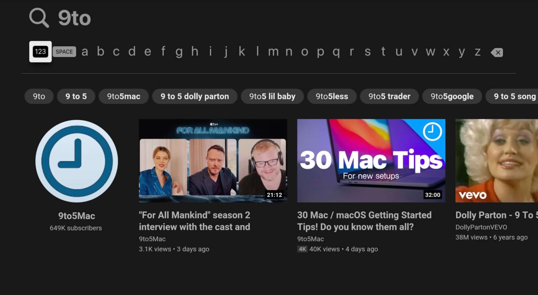 Atualização do YouTube para Apple TV