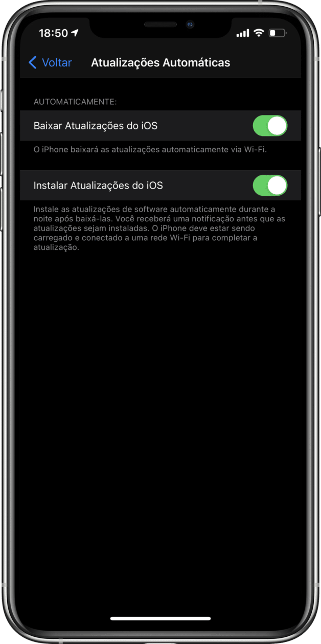 Updates no iOS 14.4