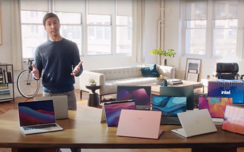 Justin Long em campanha da Intel