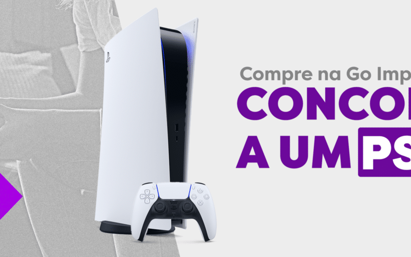 Banner da Go Imports (sorteio do PS5)